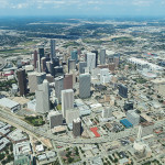 Downtown Houston, TX from above