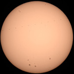 ISS transiting the sun - June 11, 2014