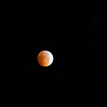 Lunar eclipse at totality - October 8, 2014